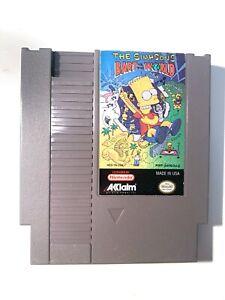 Simpsons Bart VS The World ORIGINAL NINTENDO NES Game Tested + Working!