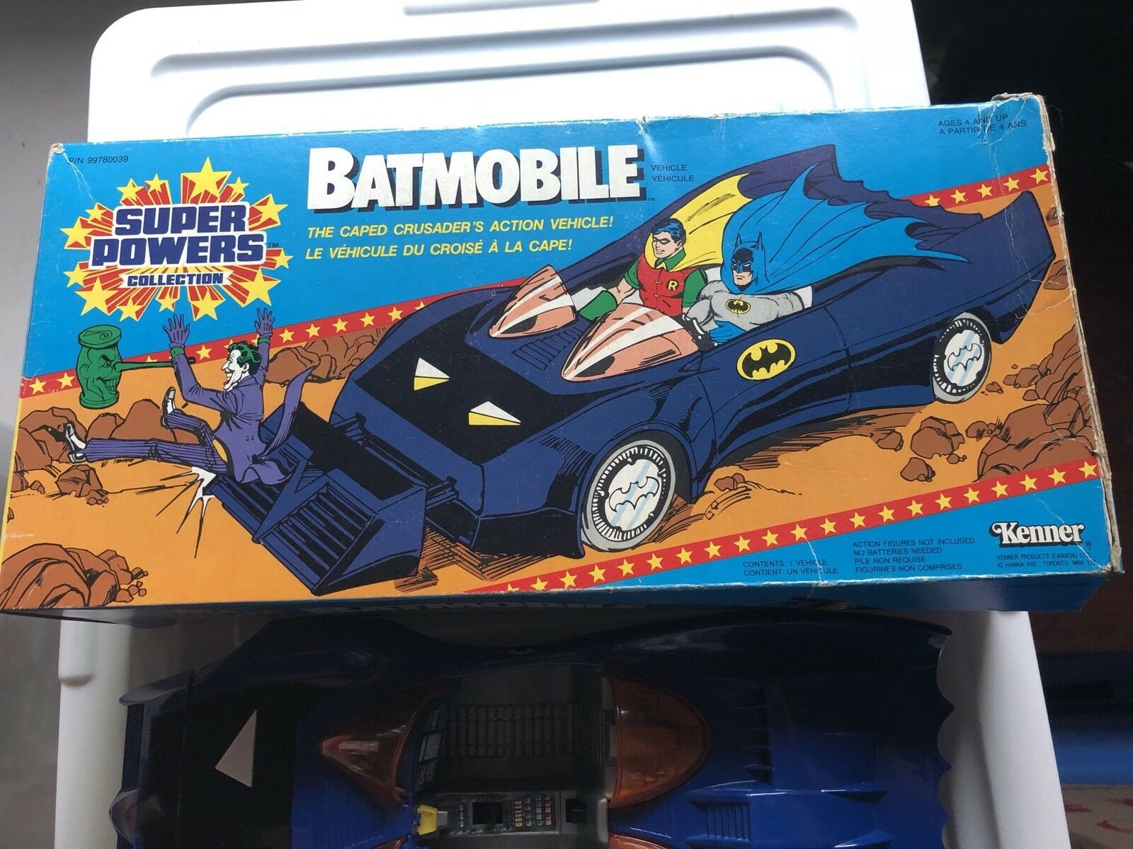 SUPER POWERS 1984 KENNER BATMOBILE With Box,booklets,bonus Batman N Robin