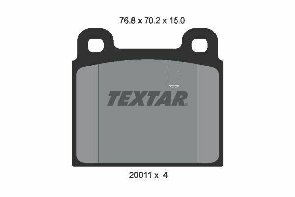 TEXTAR (2001102) Bremsbeläge, Bremsklötze vorne für ALFA BMW MERCEDES OPEL