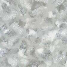 Winter/'s Grandeur 4-Silver By Robert Kaufman-BTY-Charcoal on Silver