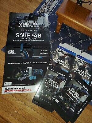 5 Piece Call Of Duty Modern Warfare Gamestop Promo Display Posters