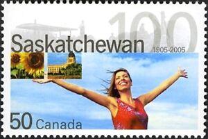 Canada   # 2117  SASKATCHEWAN CENTENNIAL    New Bright 2005 Pristine Gum