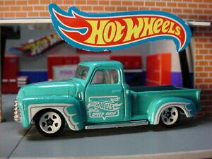 2019-HW-HOT-TRUCKS-Design-039-52-CHEVY-truck-teal-blue-SPEED-SHOP-LOOSE-Hot-Wheels