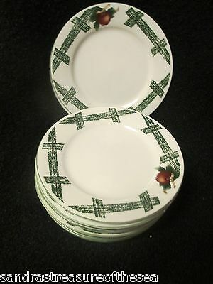 Five  The Cades Cove Collection Apple Blossom Pattern Salad Plates by Citation
