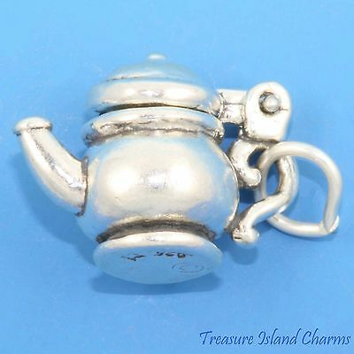 Police Handcuffs Movable 3D .925 Solid Sterling Silver Charm Cuffs MADE IN USA