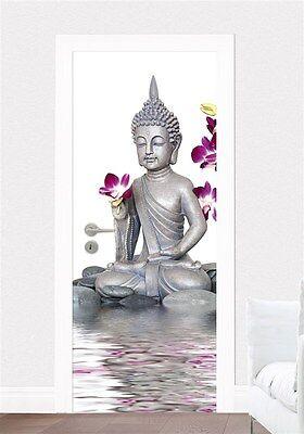 Tür Fototapete Buddha Asien Ruhe Zen Orchidee Tür Tapete Tür Poster Bild Tapete