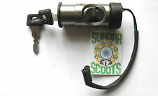 IGNITION SWITCH FOR VESPA PX & LML SCOOTERS KICK START TYPE - 2 WIRES - 2 KEYS