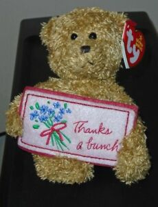 Ty Beanie Baby - THANKS A BUNCH the Bear (Greetings Collection)(5 Inch) MWMT