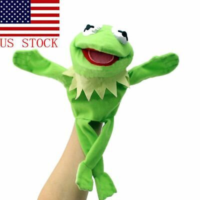 Muppets Most Wanted Show Kermit the Frog Plush Doll Hand Puppet Toy Kid/'s Gift