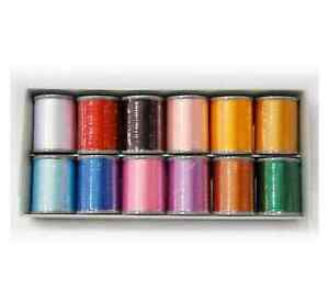 BROTHER-GENUINE-EMBROIDERY-MACHINE-EMBROIDERY-THREADS-BOX-OF-12-B242