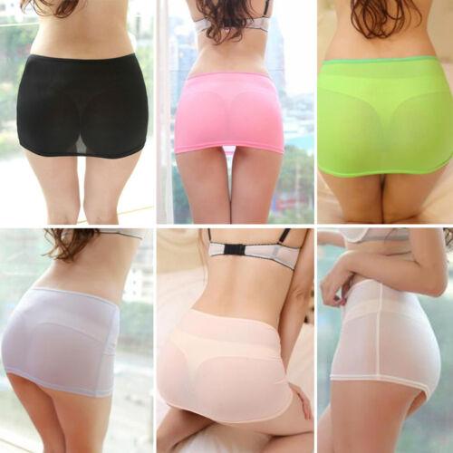 Through Stretch Women Lingerie Sexy Costume Mini Nightwear See Skirt Micro Sheer OwFnpq5pY