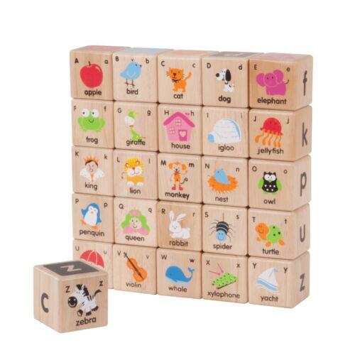 Wonderworld Children/'s//Kids Wooden Educational ABC Blocks