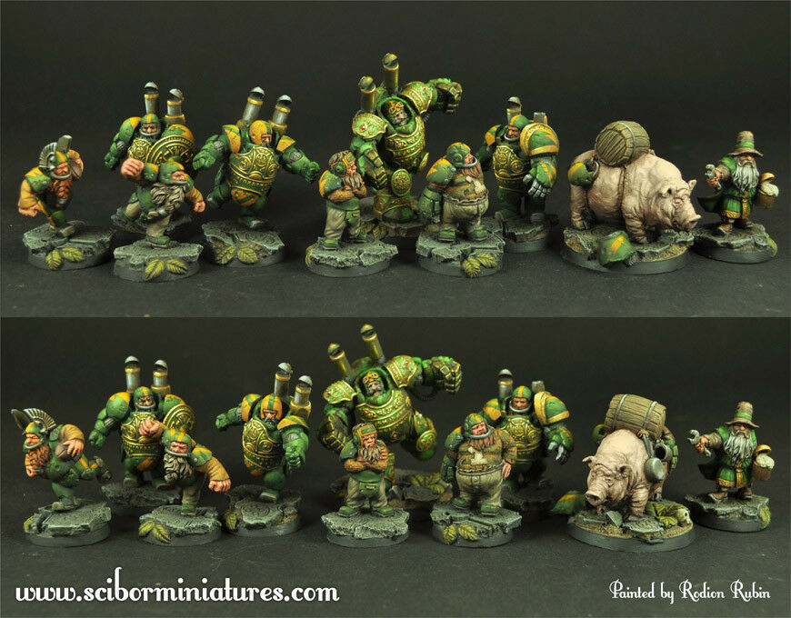 28 30mm Dwarves Football Team (10) - Scibor Miniatures
