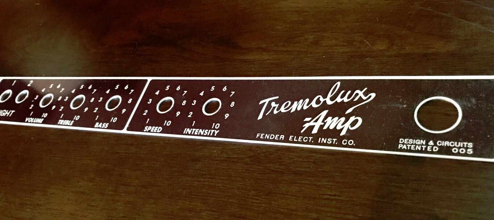 Replacement Faceplate for braunface Fender Tremolux Amp