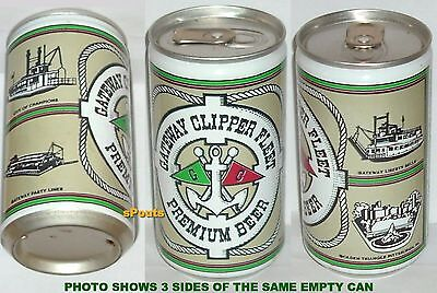GATEWAY CLIPPER FLEET PREMIUM BEER CAN PITTSBURGH PA.TOUR PARTY CRUISE BOAT SHIP