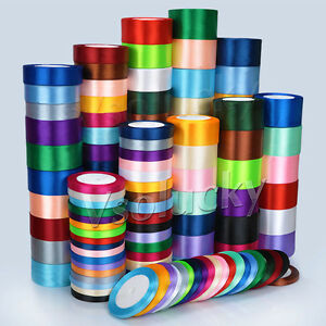 1-Roll-25-Yards-6mm-to-50mm-Satin-Ribbon-Roll-Bow-Wedding-Party-Craft-Decoration
