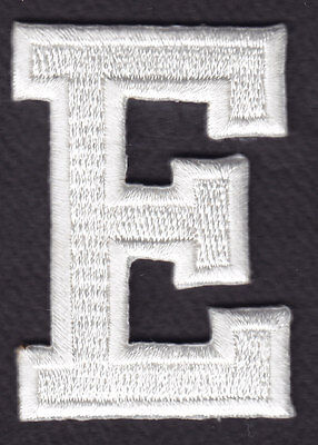 "1 7//8/"" LETTERS - Iron On Embroidered Applique Patch BLACK BLOCK LETTER /""G/"""