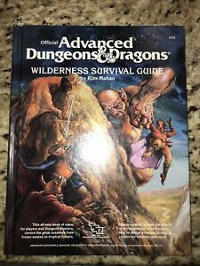 1986 Advanced Dungeons & Dragons D&D Wilderness Survival Guide by Kim Mohan