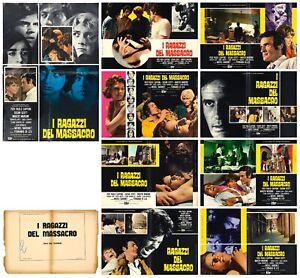 I RAGAZZI DEL MASSACRO SET FOTOBUSTE 8+SOGG. FERNANDO DI LEO ITA 1969 LOBBY CARD