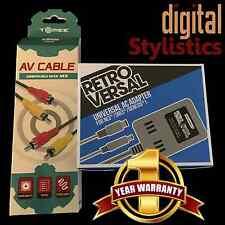 AC Adapter Power Supply & AV Cable Cord (NES Nintendo) (NIB NEW) Video Cable A/V