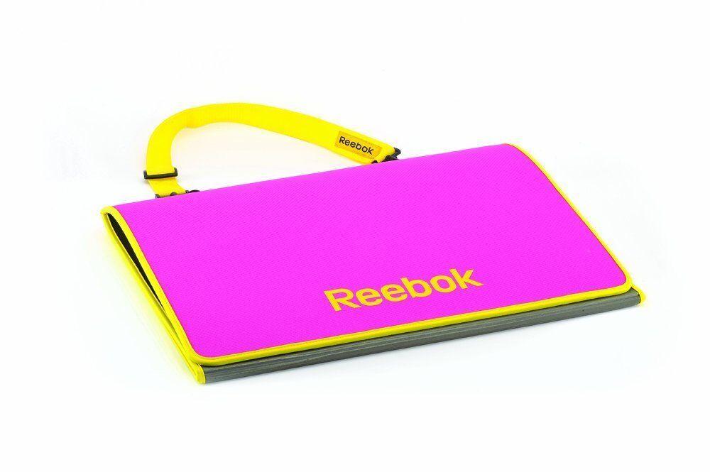 Colchoneta Fitness Reebok Tri-Fold Mat pink blue Transpirable Deporte Gimnasio