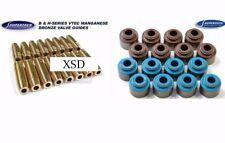 New Supertech Bronze Valve Guides Stem Seal Kit 16 Pc B16 B18c1 H22a