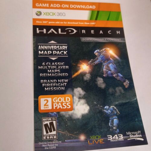 1 of 1 - Halo: Reach MAP PACK DLC CARD (Xbox 360) #2103