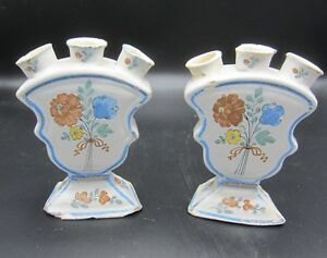 Antique-Delftware-tulip-vases-18th-century