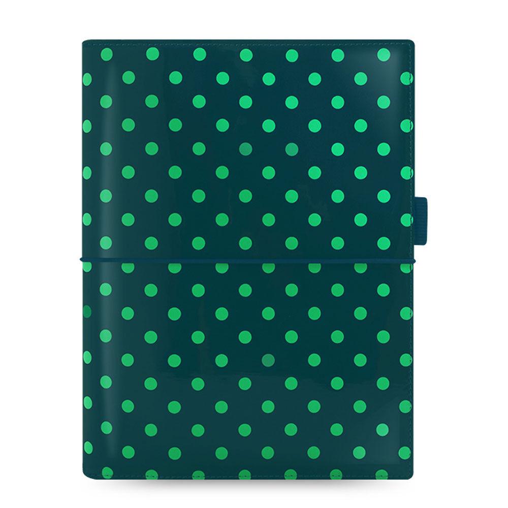 Filofax A5 Domino Patent Organiser Planner Notebook Diary Book Pine Spots  Dot