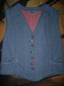 Affaires ! Gilet En Jeans Style Vintage « Meico » T. 42