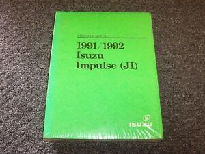 details about 1991 1992 isuzu impulse hatchback shop service repair manual xs rs 1 6l 1 8l 1991 isuzu impulse rs for sale wiring diagram 1991 isuzu impulse #8