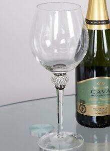 Diamond Glitz Red Wine Glass With Diamond Ball