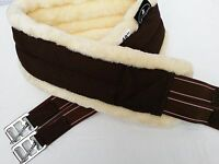 High Quality Faux Sheepskin Padded Nylon Miniature Girth,cream-brown Elasticated
