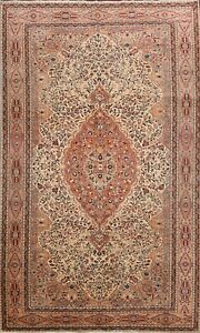 Floral-Semi-Antique-Anatolian-Turkish-Area-Rug-Vegetable-Dye-Hand-knotted-6-039-x10-039