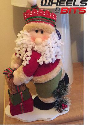 """14"""" Santa Impilamento Presenta In Piedi Peluche Decorazioni Di Natale Ornamento 699-mostra Il Titolo Originale"""