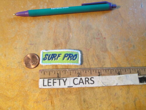 STOCK#2 SURF PRO EMBROIDERED VERY SMALL CLOTH PATCH SEW ON TYPE