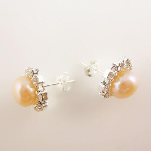 Mignonnes Boucles d/'Oreilles en Perles de Culture ornées de Zircon