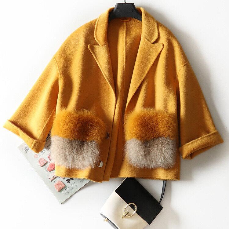 Autumn and Winter New ~Big Fox Fur Pocket ~Australian F