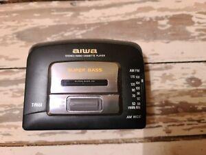 VINTAGE Aiwa TA161 TA 161 HS-TA161 W Stereo Cassette FM AM Radio Player Walkman