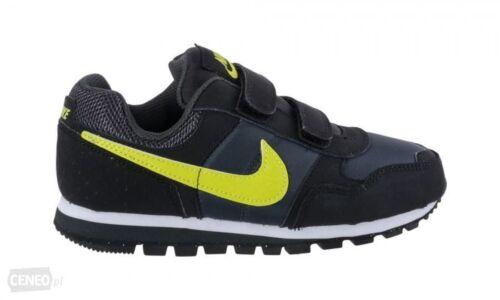 Nike MD Runner TDV trainers Shoes School elastic Velco Kids School Infant Black