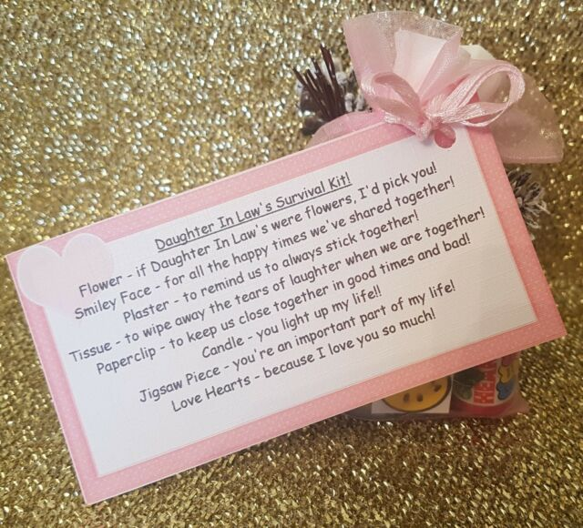 Daughter In Law Survival Kit Fun Novelty Gift For Birthday Christmas