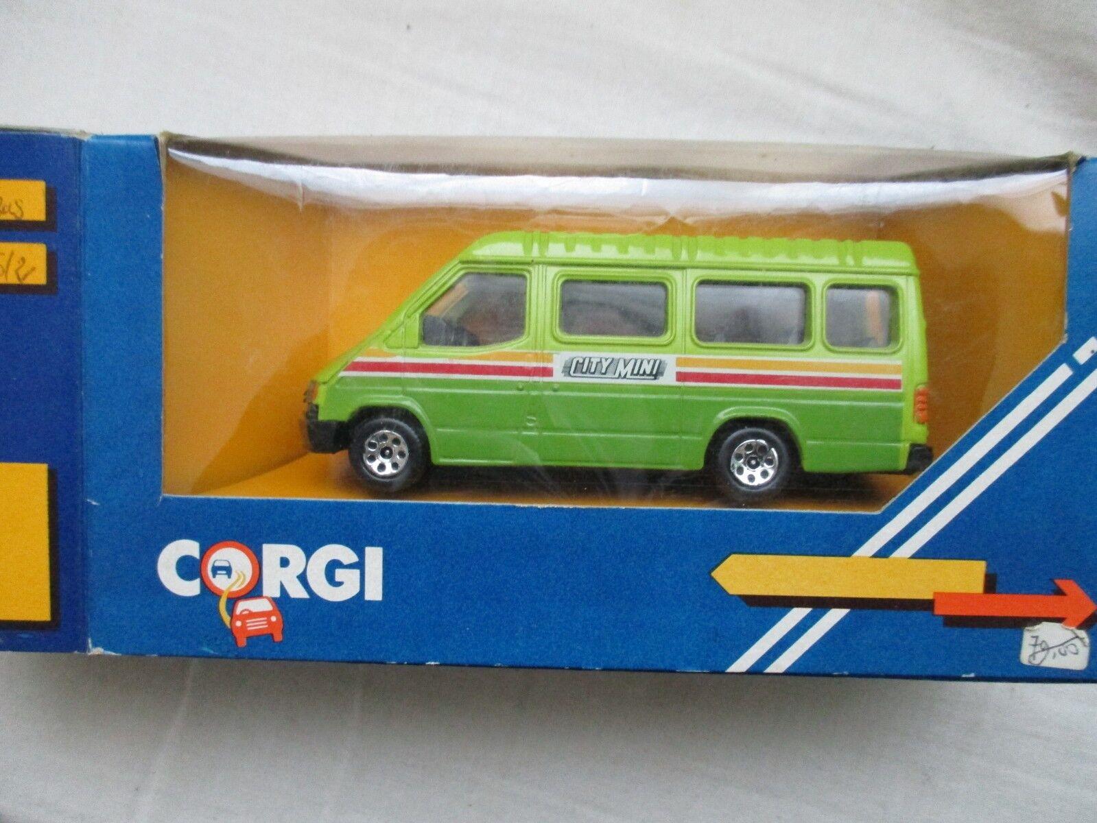 MINIATURA CORGI - C676 2 FORD TRANSIT VAN - - - CITY MINI MINI BUS EN CAJA 06e6c8