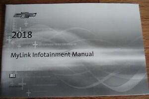 Details About 2018 Chevrolet Mylink Infotainment System Manual Supplement Guide New Take Out