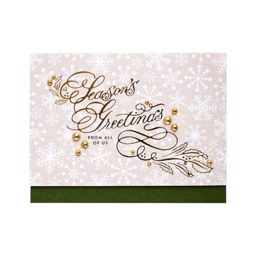 Greetings Wishes Word Hot Foil Plates Dies Stencil Embossing Craft Scrapbooking