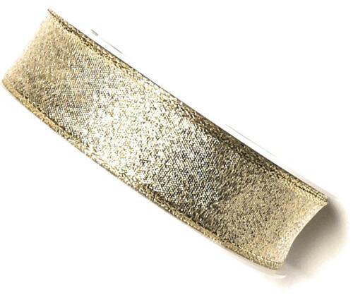 1 m = 0,24 € brokatband 25 m x 25 mm or franges fil arête Fixation Dekoband