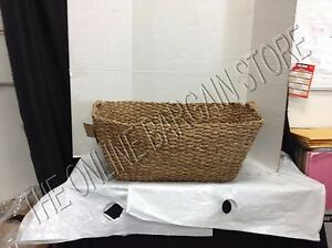 Pottery Barn West Elm Braided Storage French Laundry Handwoven Basket 28x18x13