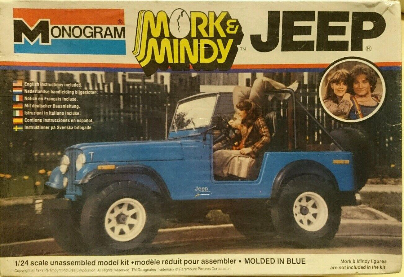 MORK & MINDY JEEP 1979 PARAMOUNT 1/24 SCALE CONSTRUCTION KIT MONOGRAM