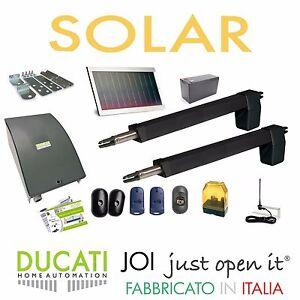 Kit Apricancello Due Ante.Dettagli Su Ducati Hc812 400 Solar Kit Apricancello Solare 2 Ante Battenti Max 7m 700kg