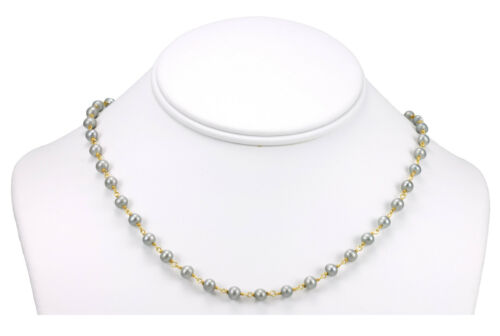 Gray Pearl Necklace Chain 18 19 Inch 14k Gold Filled Freshwater Cultured Pearls