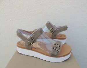 f7703b5375a Image is loading UGG-ANGIE-ANTILOPE-SUEDE-PLATFORM-STRAPPY-SANDALS-WOMEN-